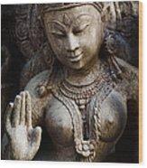 Granite Indian Goddess Wood Print by Tim Gainey
