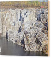 Granite Quarry, Barre, Vermont Wood Print