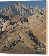 Granite Rock Formations, Alabama Hills Wood Print