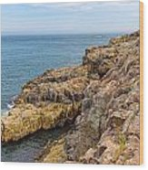 Granite Shore Wood Print