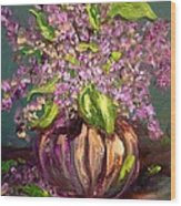 Granny Mabry's Lilacs Wood Print by Barbara Pirkle