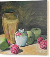 Granny's Apples Wood Print by Lilibeth Andre