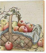 Granny's Basket Wood Print
