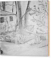 Granpa's Backyard IIi Wood Print