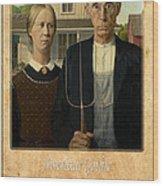 Grant Wood 1 Wood Print
