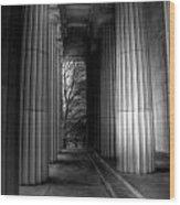 Grant's Tomb Columns Wood Print
