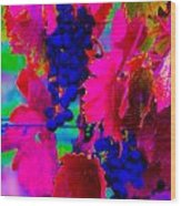 Grape Acid Wood Print
