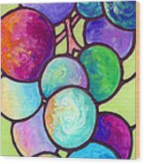 Grape De Chine Wood Print