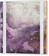 Grape Impressions Original Madart Painting Wood Print