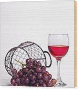 Grape Juice Wood Print