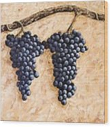 Grape Vine Wood Print