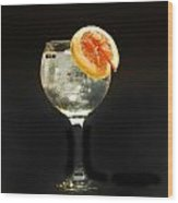 Grapefruit Gin Tonic Wood Print