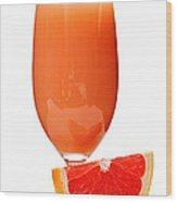 Grapefruit Juice In Glass Wood Print by Elena Elisseeva