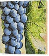 Grapes 2 Wood Print