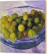 Grapes On The Half Shell Wood Print