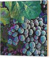 Grapes Painterly Wood Print