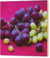 Grapes White And Red Wood Print