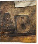 Graphic Artist - Ab Wood Print