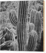 Graphic Cactus Wood Print