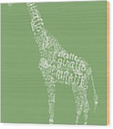 Graphic Giraffe Wood Print