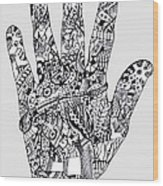 Graphic Hand Wood Print