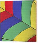 Graphic Hot Air Balloon Detail Wood Print