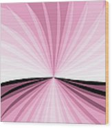 Graphic Pink And White Wood Print