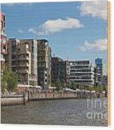 Grasbrookhafen Hamburg Hafencity Wood Print
