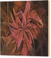 Grass Abstract - Fire Wood Print
