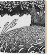 Grass Of The Earth Wood Print