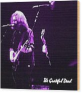 Grateful Dead In Purple - Concerts Wood Print