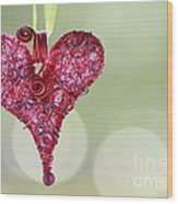 Grateful Heart Wood Print by Brenda Schwartz