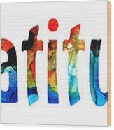 Gratitude 2 - Inspirational Art Wood Print