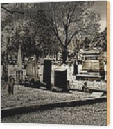 Grave Consequences Wood Print