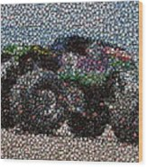 Grave Digger Bottle Cap Mosaic Wood Print by Paul Van Scott