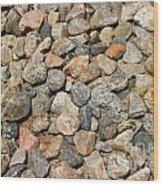 Gravel Stones Wood Print