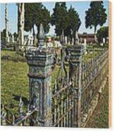 Graveyard Art Wood Print
