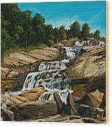 Graveyard Falls Blue Ridge Parkway Wood Print