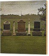 Graveyard Landscape Photograph Wood Print