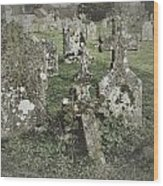 Graveyard Monuments And Gravestones Wood Print