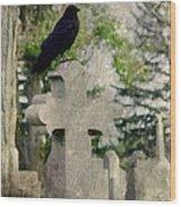 Graveyard Occupant Wood Print