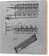 Graveyard Patent Wood Print