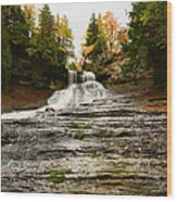 Laughing Whitefish Falls Wood Print