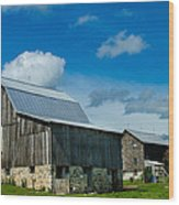 Gray Barn Wood Print