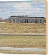 Gray Barn In A Cornfield Wood Print