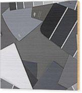 Gray Card Checker O Meter Wood Print