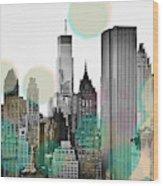 Gray City Beams Wood Print