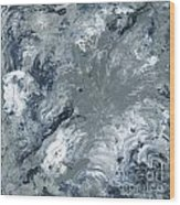 Gray Color Of Energy Wood Print by Ania Milo