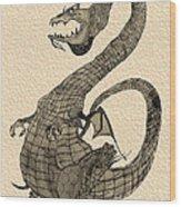 Gray Dragon Wood Print
