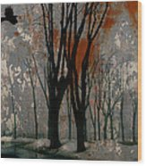 Gray Mirage Wood Print